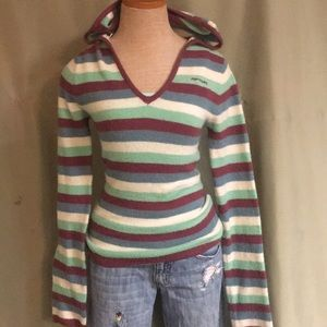 Rip curl size medium striped hooded sweater